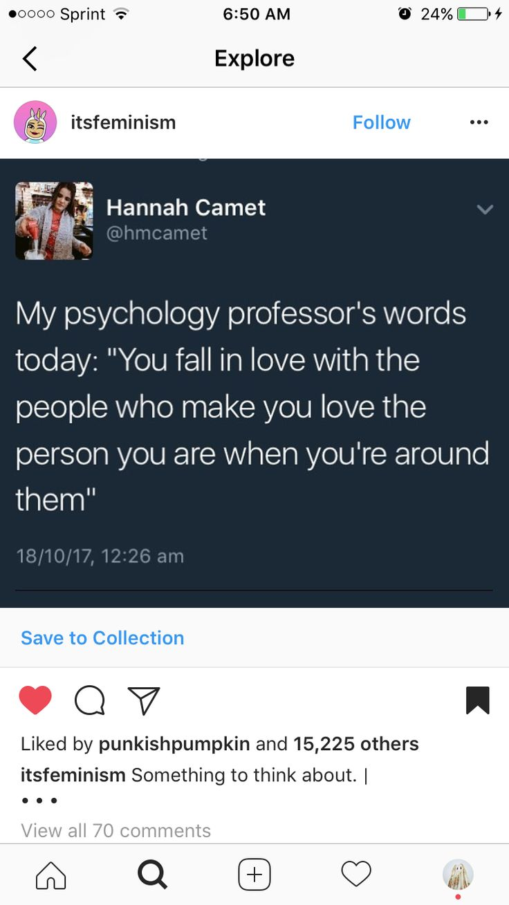 This reminds me of something I heard when I was in my 20s - something about, he doesn't love you, he loves how he feels when he's around you.  :-/   Or something along those lines...
