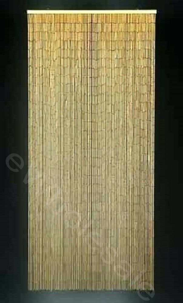 Bamboo Curtain Natural This Beaded Bamboo Curtain Is Perfect For Patios Porches Doorways As Room Bamboo Beaded Curtains Bamboo Curtains Bamboo Door Curtain