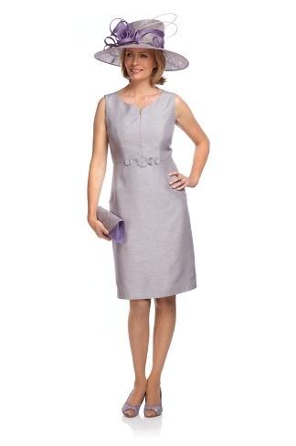 Pebble Shantung Shift Dress