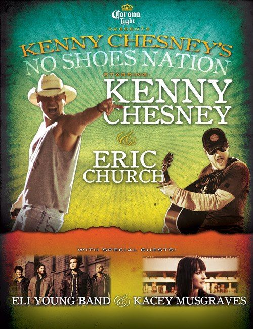 Kenny Chesney No Shoes Nation Tour 2013 - CountryMusicRocks.net  Oh, I cannot wait.