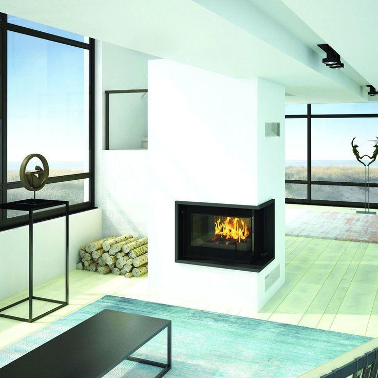 Seguin Europa 7 VL Black Line Glass Cast Iron Cheminee Fireplace