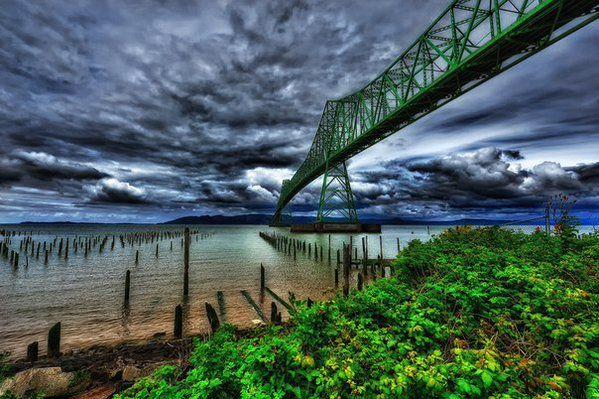 Мост Астория, река Колумбия, штат Орегон, США