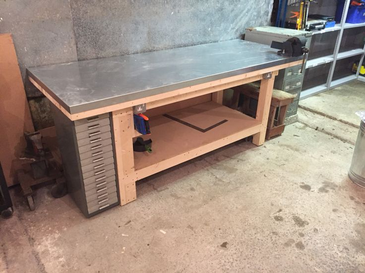 Workbench All Done Vice Fitted Plugs Wired And Base In Even Added A