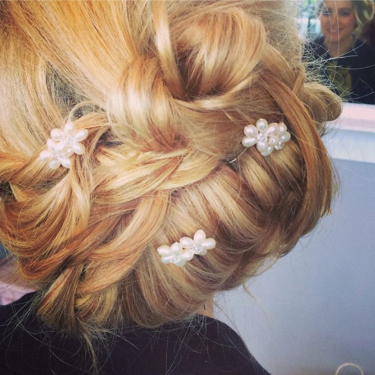 Plait and roll vintage bridal hairup