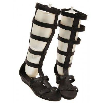 Fashion Style Pu Peep Toe Classic Sandals Shoes