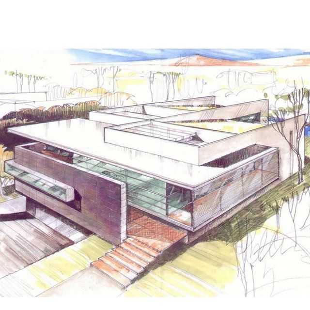 Godoy House / Hernandez Silva Arquitectos #instarch #instalike #instahome #Croqui #architecture #arquitectura #arquitetura #arquiteto #croquiresidencial #home #house #sketch #modern #projeto #architect #Arquitecto #passion #fastsketch #instasketch #faculdadedearquitetura #arquitecto #architect #instacroqui #croquideArquitetura