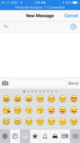 Using the emoji keyboard in Messages