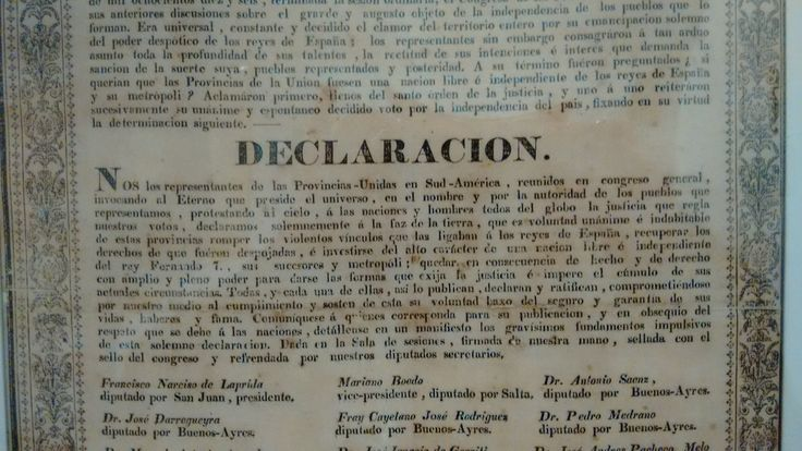 """Museo Histórico Cornelio de Saavedra. Sala """"Independencia Sudamericana"""" http://www.buenosaires.gob.ar/museosaavedra/exposicion-permanente/sala-de-las-invasiones-inglesas-y-la-independencia-sudamericana/independencia-sudamericana"""