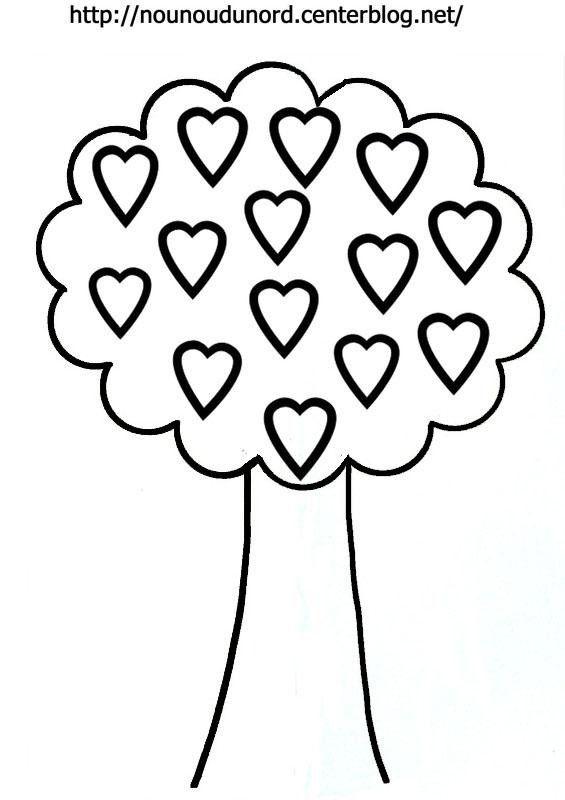 Coloriage arbre aux coeurs dessin par nounoudunord pour imprimer vous cliquez droit sur votre - Dessin d arbre a imprimer ...