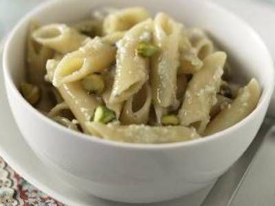 Penne with Gorgonzola and Pistachio