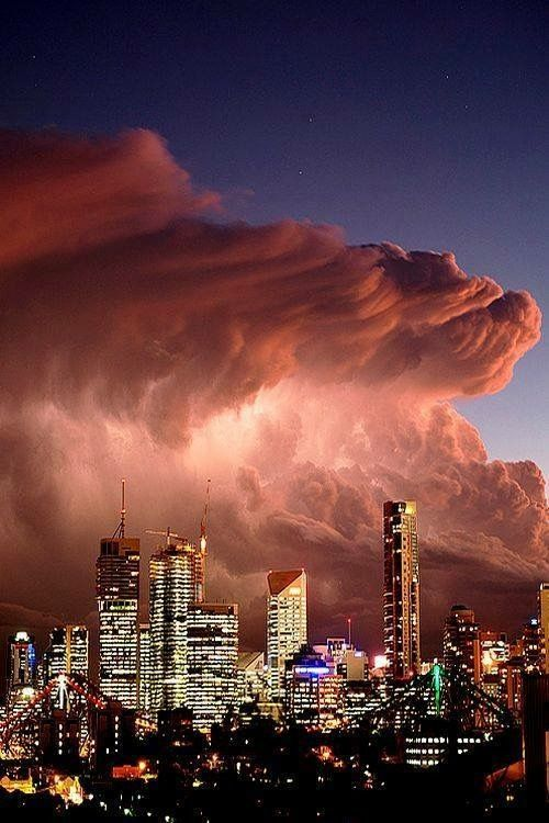 Dust storm over Melbourne