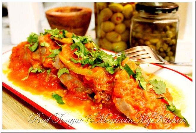 Beef Tongue in Tomato Sauce/Lengua de Res Entomatada