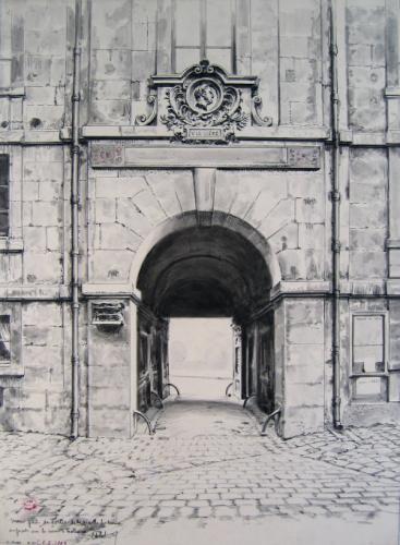 Une porte de sortie de la vieille Sorbonne, en façade sur la cour d'honneur | Paris Musées