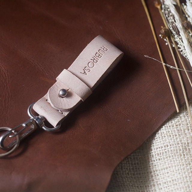 Then there's our classic vegetable tan Key Lanyard in natural color