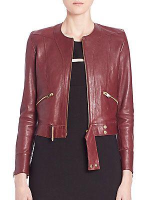 IRO Broome Cropped Leather Moto Jacket