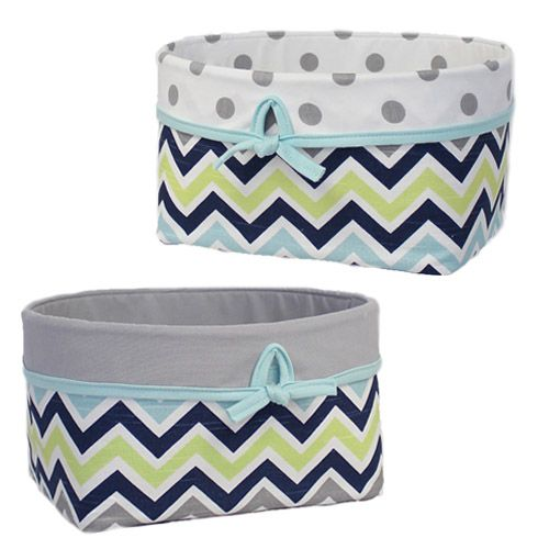 Nifty storage baskets completely made of fabric....they won't scratch the furniture.