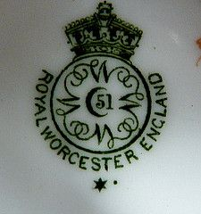 dating royal worcester backstamp marks How to date royal worcester pottery marks query:- we have a royal worcester bone china set that has the following markings: it has the royal worcester.