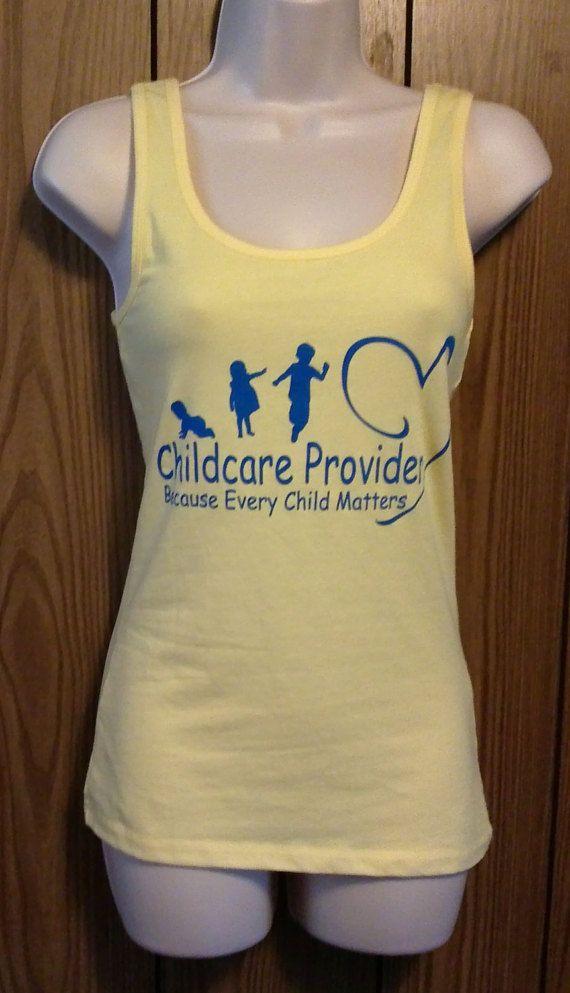 Childcare Provider Shirt Yellow Tank Top by ChildcareProvider