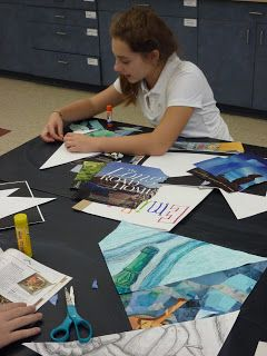 After creating a line drawing of a still life, students can divide the work into four sections. One section can be rendered in pencil, one in oil pastel..one in colored pencil..and one in their choice!