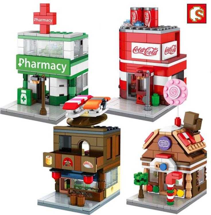 $21.99 (Buy here: https://alitems.com/g/1e8d114494ebda23ff8b16525dc3e8/?i=5&ulp=https%3A%2F%2Fwww.aliexpress.com%2Fitem%2F4pcs-Mini-Street-View-Coke-Candy-House-Pharmacy-Sushi-Shop-Cafe-Building-Bricks-Block-Compatible-With%2F32723727523.html ) 4pcs Mini Street View Coke Candy House Pharmacy Sushi Shop Cafe Building Bricks Block Compatible With Lego CREATOR for just $21.99