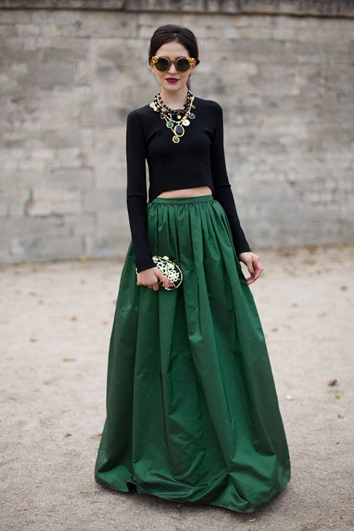 A ball gown skirt on the street... FAB!