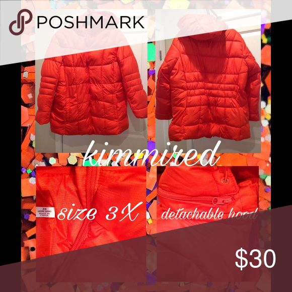 🆕Bright Neon Orange Puffer Coat w/ Hood ~ 3X~NWOT Brand new without tags pretty plus size puffer coat. size 3X (22W-24W). I did wash it to freshen it up since it was stored in a bag while we moved across country...it smells sooooo good❣It's very warm & very pretty too❣It has a detachable hood as well. Comes from a no smoking or pet home. Jackets & Coats Puffers