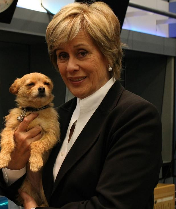 Dame Kiri Te Kanawa & one of her three dogs