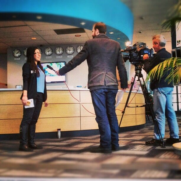 Sometimes we get interviewed. No big deal, right?    Our old home at 200 Burrard | Photo by ticketstonight on instagram