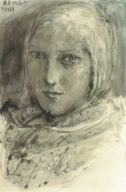 Portrait of Marie-Therese Walter by Pablo Picasso, 1936