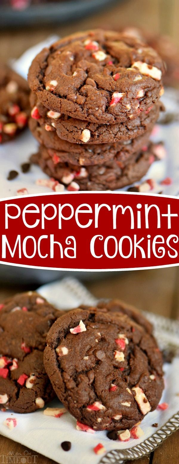 Perfect for the holidays! These Peppermint Mocha Cookies are so easy to make and exude the delicious flavors of the holidays! Great for your holiday cookie trays! | eBay