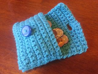 Easy coin purse/wallet - free crochet pattern on Ravelry