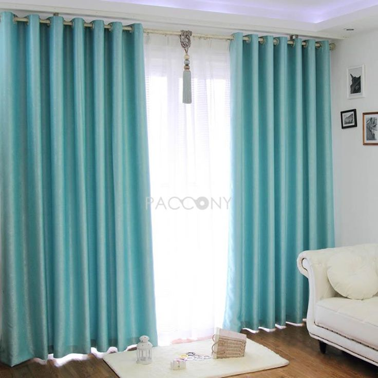 Turquoise Sound Proofing Blackout Curtains