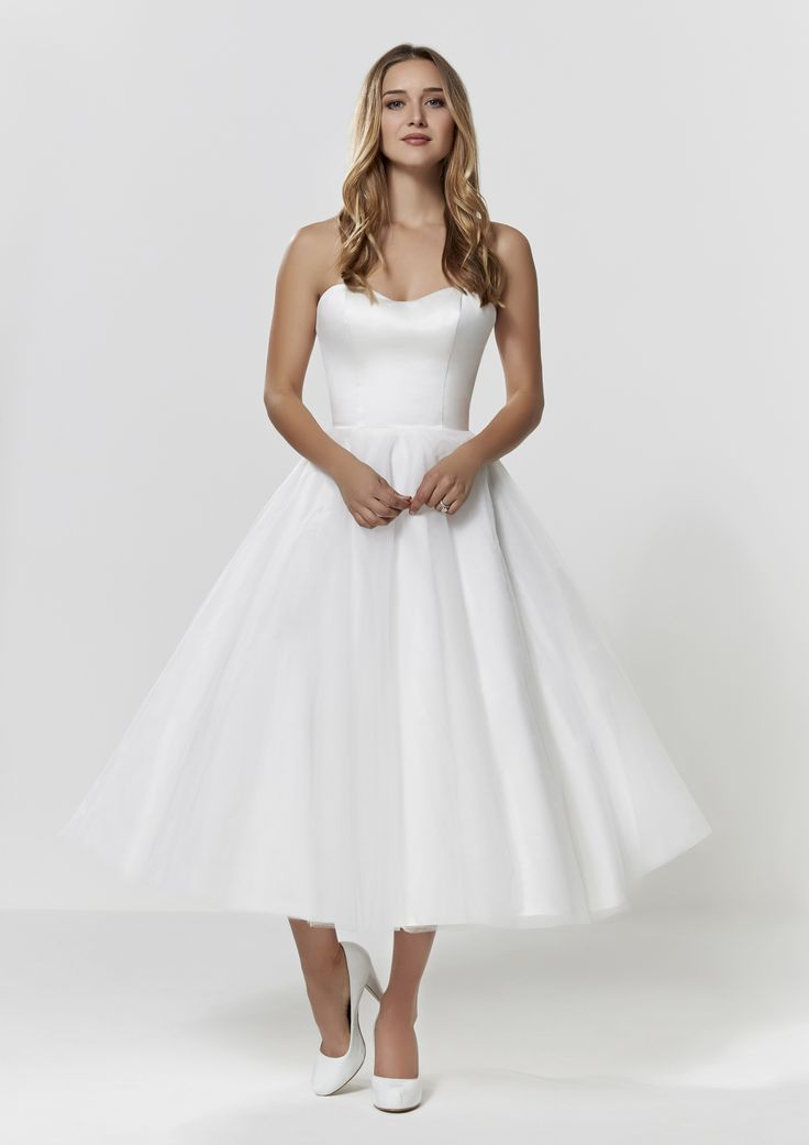 Short Tulle Wedding Dress - Check out our Custom Pin Options #CustomWeddingDress