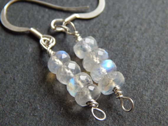 Rainbow Dreams Earrings in Rainbow Moonstone and by KowalaBeads