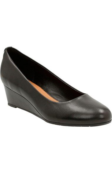 Clarks® 'Vendra Bloom' Wedge Pump (Women) available at #Nordstrom