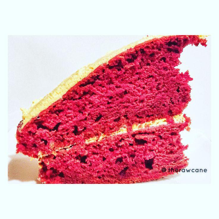 Red velvet sugarcane cake