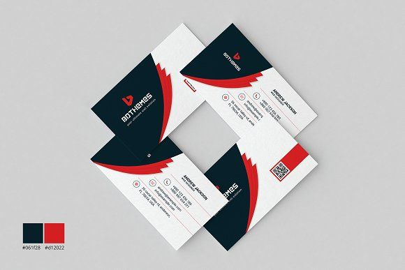 Business Card Template 11 by BdThemes on @creativemarket