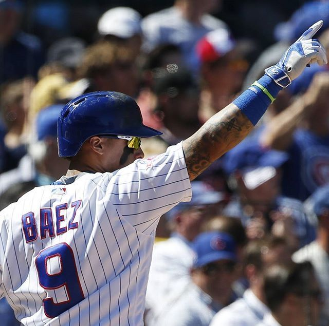 Javier Baez is the Chicago Cubs' Puerto Rican utility player. He doesn't play every game, but when he does he always guarantees to bring in a run. The #9 player is especially known for his incredible groundouts plays that have put him in the running for the 2016 Golden Glove. Baez is also one of the youngest players in MLB at 22 years old.