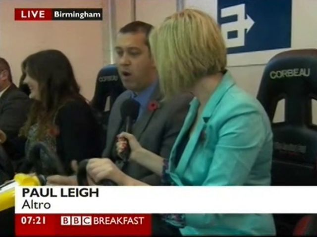 Altro Transflor On BBC Breakfast by Altro. Altro's Paul Leigh appears on the BBC Breakfast programme live from the Eurobus at the NEC.
