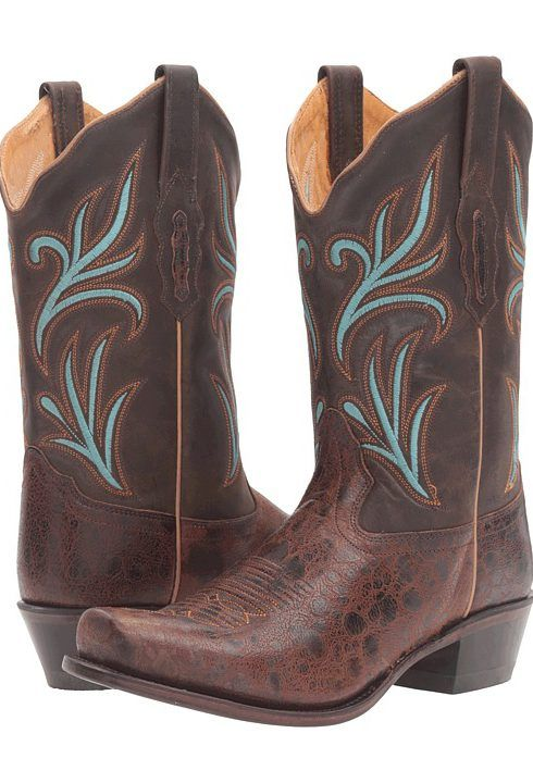 Old West Boots 18010 (Brown) Cowboy Boots - Old West Boots, 18010, 18010, Footwear Boot Western, Western, Boot, Footwear, Shoes, Gift, - Fashion Ideas To Inspire