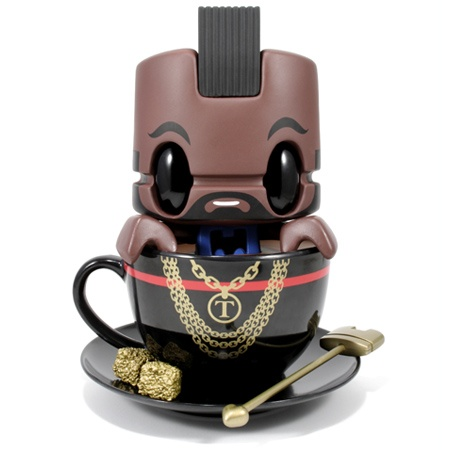 "Mr. Tea.   This 6.5"" vinyl figure comes complete with a cup & saucer, golden tea stirrer & sugar cubes."