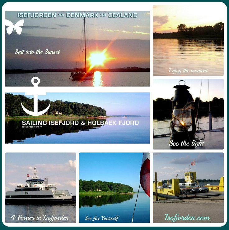 Collage With Photos from Holbaek fjord and Isefjorden - Zealand - Denmark