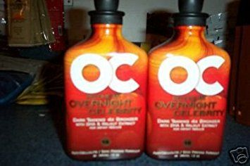 LOT 2 OC Overnight Celebrity Rsun UV Absorbing Lotion Tan Bed Accelerator Tanner Review
