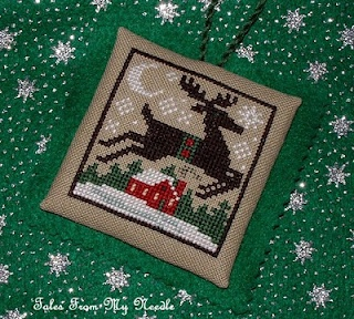 Beautiful Reindeer Prairie Schooler Ornament from the blog Tales From My Needle