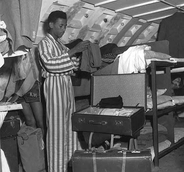 At the end of the war, London had a severe labor shortage and the South Clapham underground air raid shelter found another use as temporary housing for the first large group of West Indian migrants promised work in the United Kingdom. In June 1948, 492 passengers from Jamaica arrived in England on the MV Empire Windrush.