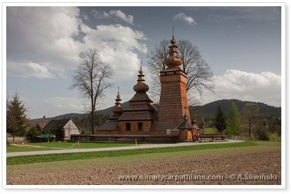 Old wooden Orthodox Church on UNESCO list. Beskid Niski #Poland