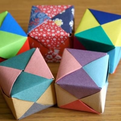 Origami Cub - simple origami - may make a good craft to talk to girls about Japan