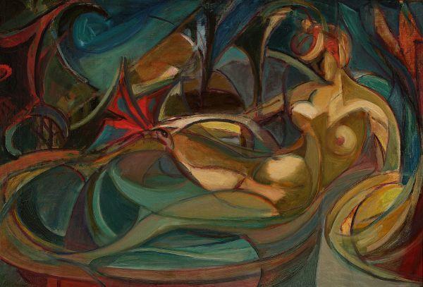 Akt kobiecy - Motyle - Leon Chwistek