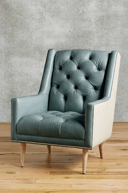 Premium Leather   Belgian Linen Booker Armchair. 45 best Accent Chairs images on Pinterest   Accent chairs