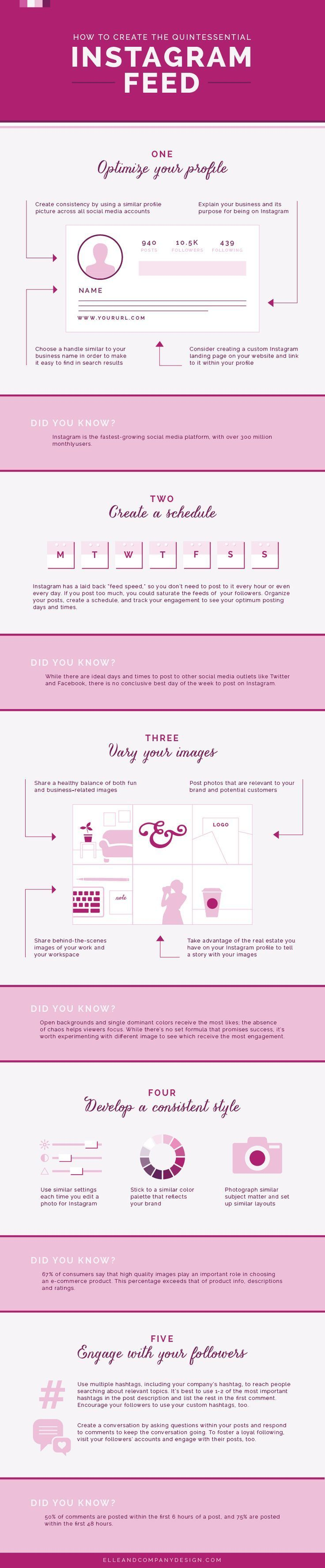 How to Create the Quintessential Instagram Feed - #infographic  #RePin by AT Social Media Marketing - Pinterest Marketing Specialists ATSocialMedia.co.uk